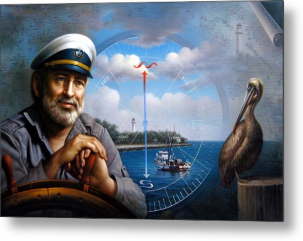 St. Simons Island Sea Captain 5 Metal Print