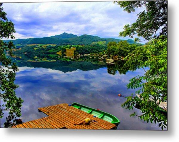 Stunning Mirror Lake By Julia Fine Art Metal Print