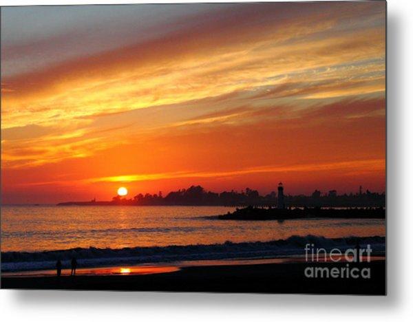 Sunset At Santa Cruz Harbor 1 Metal Print