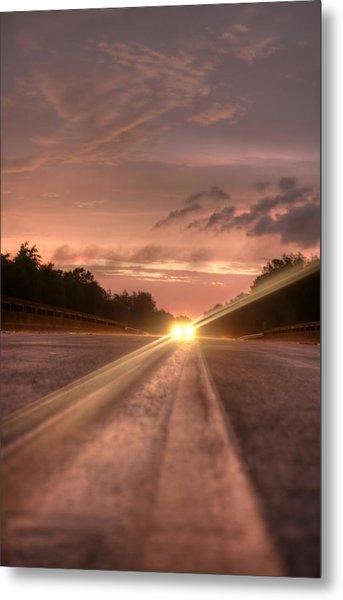 Sunset High Beams 2 Metal Print by David Paul Murray