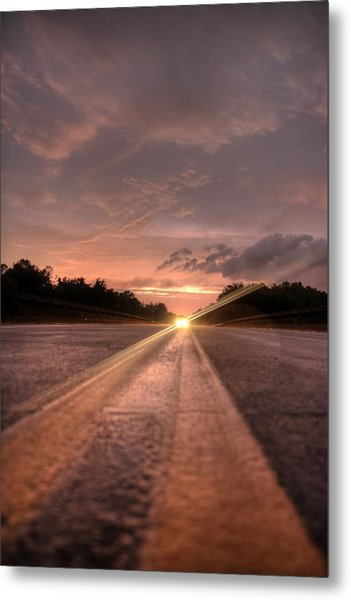 Sunset High Beams Metal Print by David Paul Murray