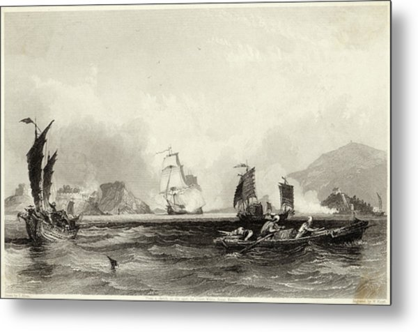 The British Fleet Forces A  Passage Metal Print by Mary Evans Picture Library