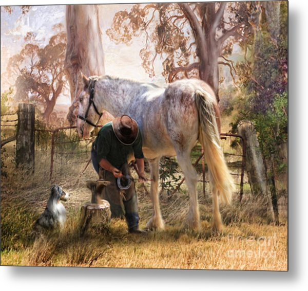 The Bushmans Forge Metal Print