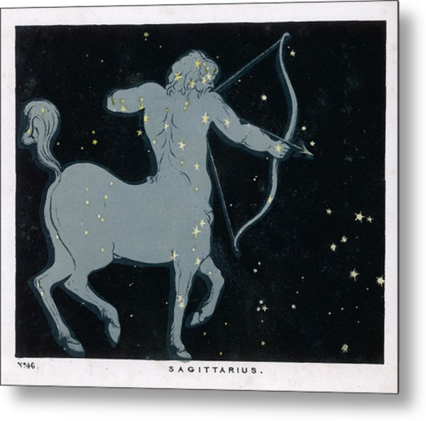 The Constellation Of  Sagittarius Metal Print by Mary Evans Picture Library