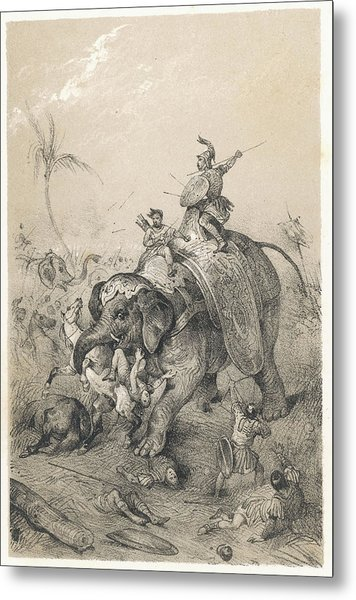 The Elephant Of Porus, Emperor Metal Print