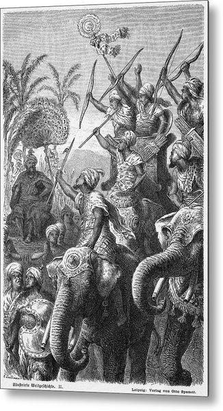 The Elephants Of Porus,  Emperor Metal Print
