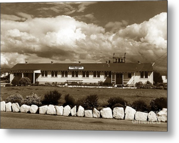 The Fort Ord Station Hospital Administration Building T-3010 Building Fort Ord Army Base Circa 1950 Metal Print