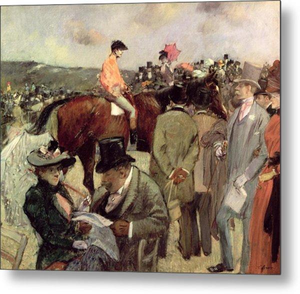 The Horse Race Metal Print