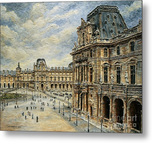 The Louvre Museum Metal Print