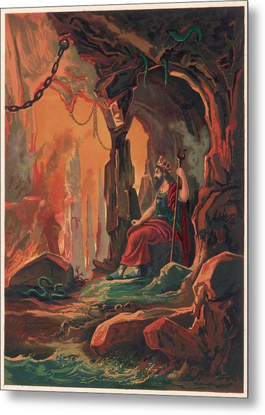 The Ruler Of The Underworld Metal Print by Mary Evans Picture Library