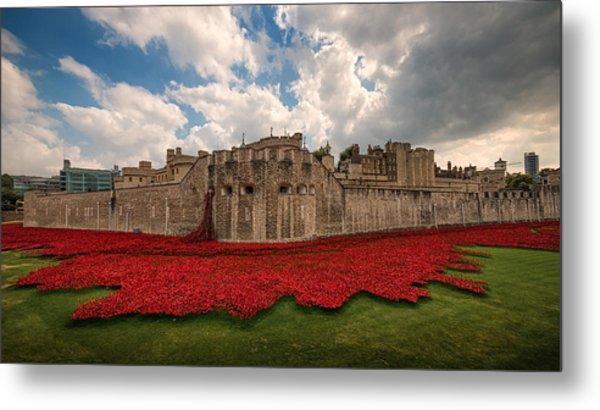 Tower Of London Remembers.  Metal Print