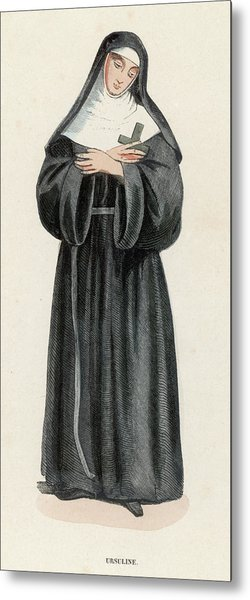 Ursuline Nun Devoted To Saint Ursula Metal Print by Mary Evans Picture Library