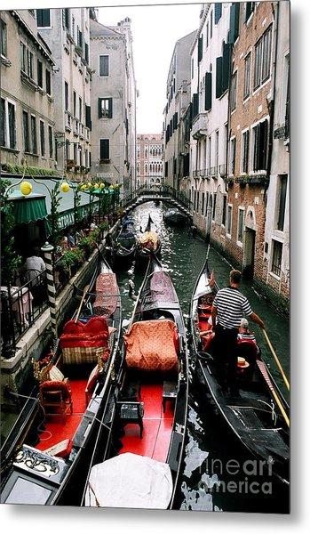 Venice Canal Metal Print by Sandy MacNeil