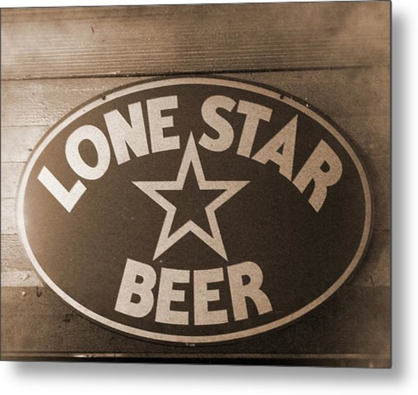 Vintage Sign Lone Star Beer Metal Print