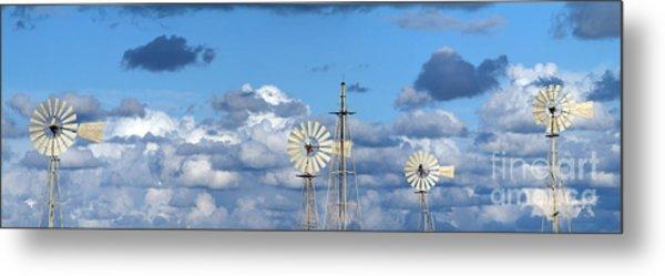 Water Windmills Metal Print