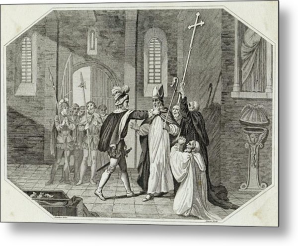 William I Arrests Odo, Bishop Metal Print by Mary Evans Picture Library