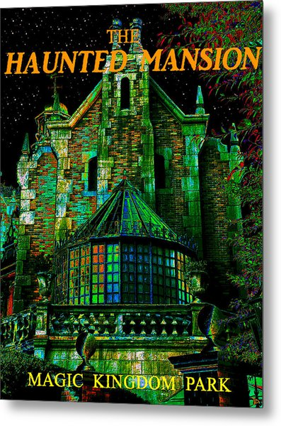 Haunted Mansion Poster Work A Metal Print