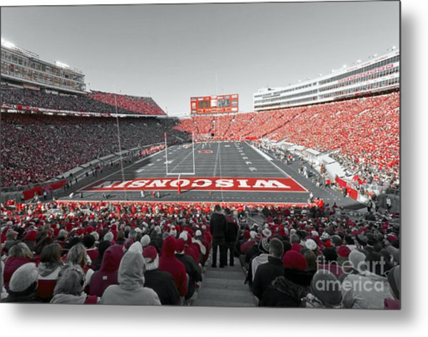 0096 Badger Football Metal Print