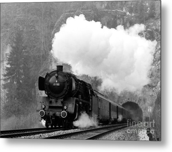 01 150 On Tracks In Franconia Metal Print by Joachim Kraus