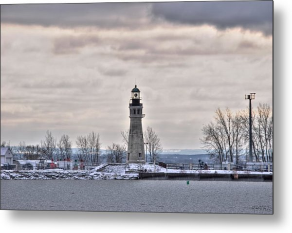 01 Winter Light House Metal Print