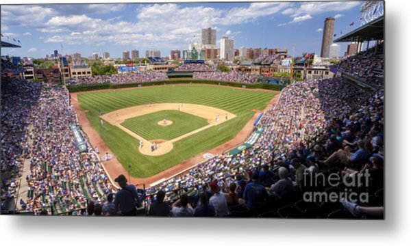 0100 Wrigley Field - Chicago Illinois Metal Print