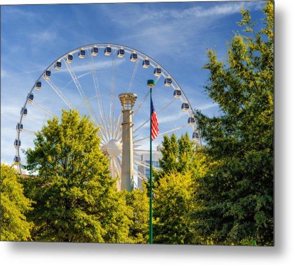 Atlanta Ferris Wheel Metal Print