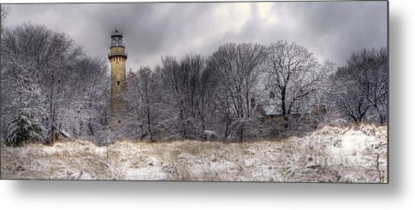 0243 Grosse Point Lighthouse Evanston Illinois Metal Print