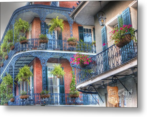 0255 Balconies - New Orleans Metal Print
