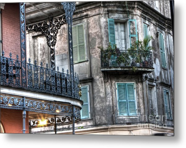 0275 New Orleans Balconies Metal Print