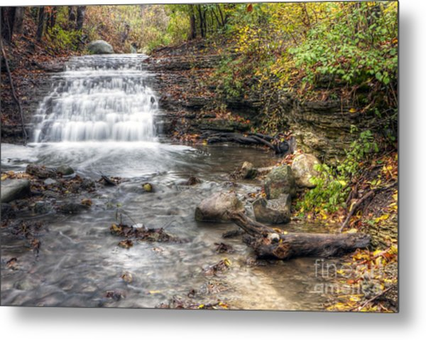 0278 South Elgin Waterfall Metal Print