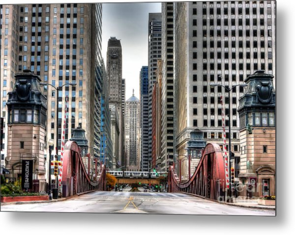 0295b Lasalle Street Bridge Metal Print