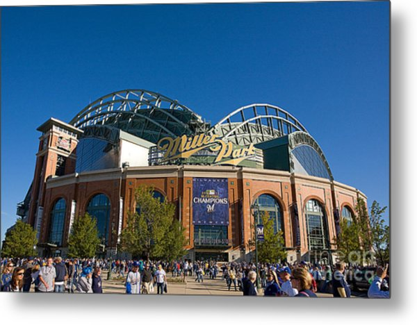 0386 Miller Park Milwaukee Metal Print