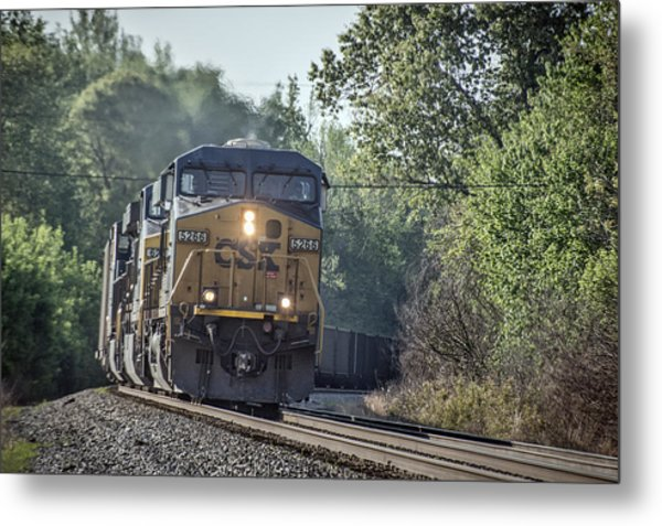 05.07.14 Csx Coal Train At Nortonville Ky Metal Print by Jim Pearson