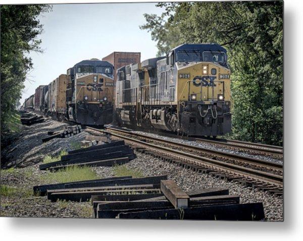 05.07.14 Csx Meet At Hopkinsville Ky Metal Print by Jim Pearson