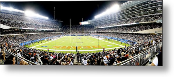 0856 Soldier Field Panoramic Metal Print