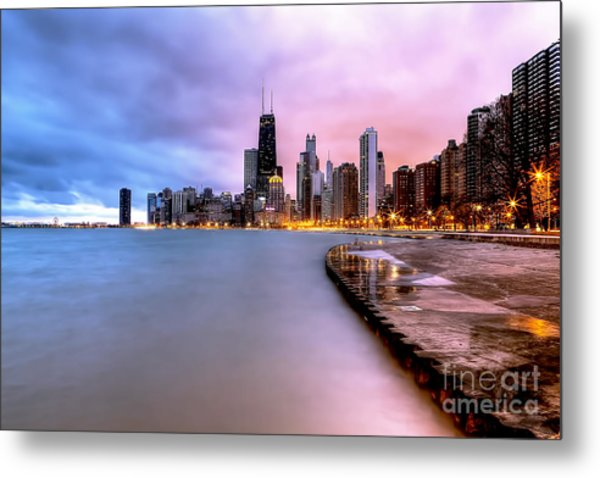 0865 Chicago Sunrise Metal Print
