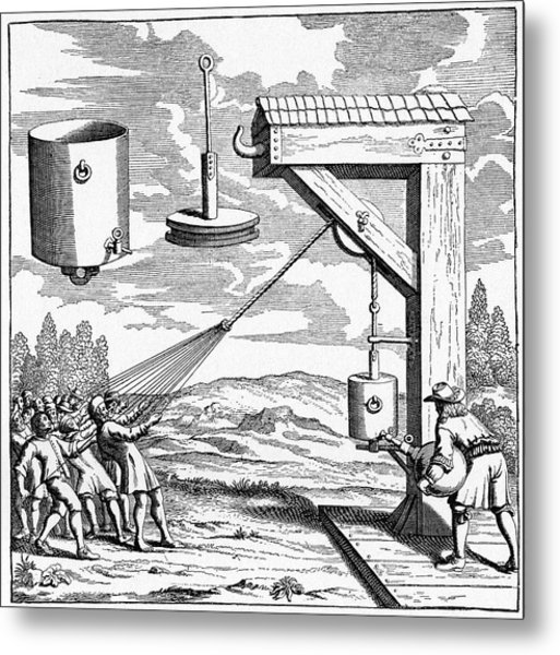 17th Century Vacuum Experiment Metal Print by Cci Archives