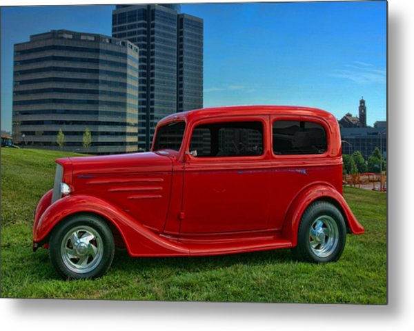 1934 Chevrolet Sedan Hot Rod Metal Print