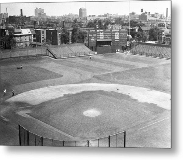 1937 Wrigley Field Scoreboard Metal Print by Retro Images Archive