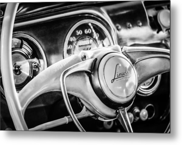 1941 Lincoln Continental Coupe Steering Wheel Emblem -0858c Metal Print