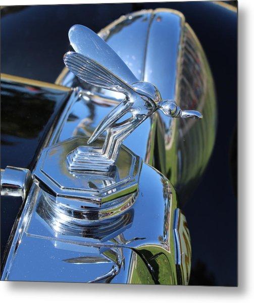 1948 Mg Hood Ornament Metal Print by Mark Steven Burhart