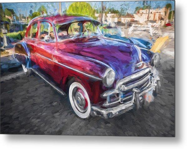 1950 Chevrolet Sedan Deluxe Painted  Metal Print