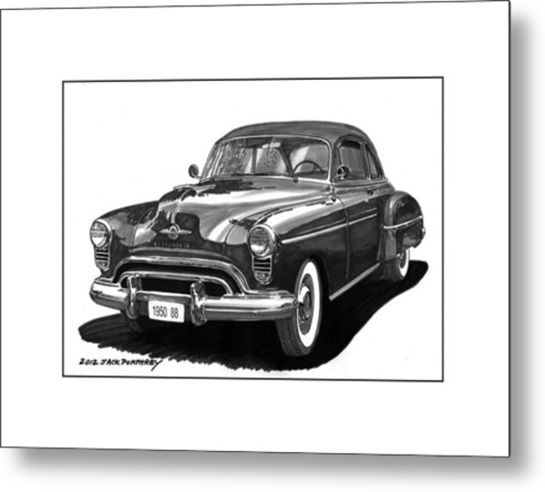 1950 Oldsmobile Rocket 88 Metal Print