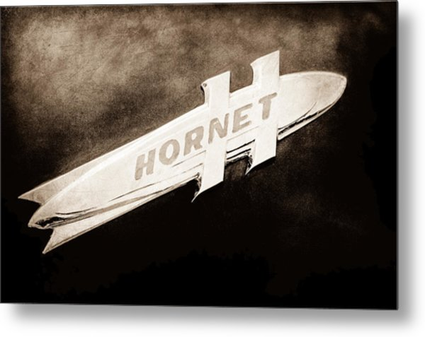 1951 Hudson Hornet Emblem Metal Print
