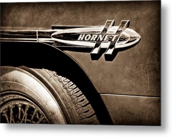 1953 Hudson Hornet Side Emblem Metal Print