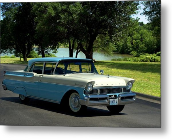 Metal Print featuring the photograph 1957 Mercury Monterey by Tim McCullough