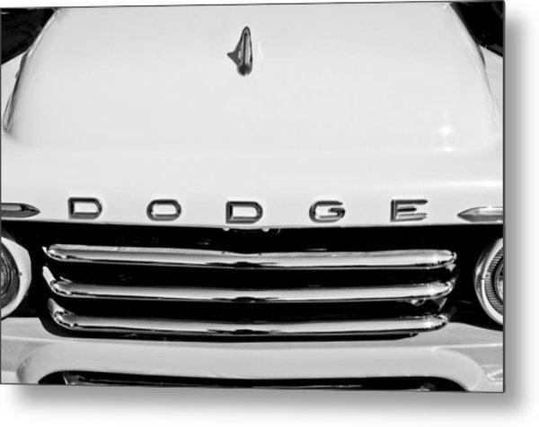 1958 Dodge Sweptside Truck Grille Metal Print