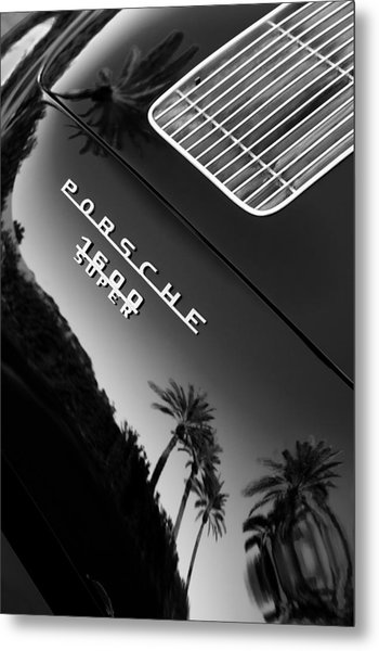 1959 Porsche 356 A 1600 Convertible D Rear Emblem Metal Print