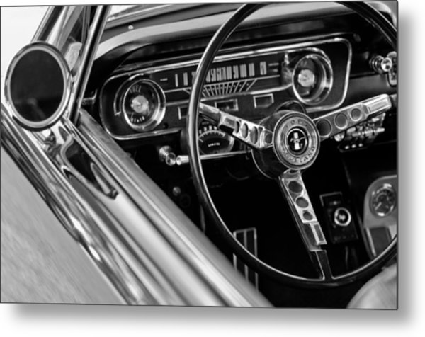 1965 Shelby Prototype Ford Mustang Steering Wheel Metal Print