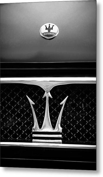 1967 Maserati Ghibli Grille Emblem Metal Print